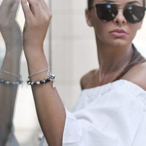 Biżuteria w stylizacji Agnieszki - zestaw -bransoletek GOOD LUCK, SHINE BRIGHTLY