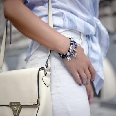 Biżuteria w stylizacji Agnieszki - zestaw bransoletek GOOD LUCK, TAKE CONTROL