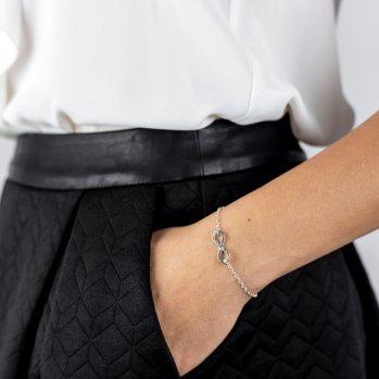 srebrna bransoletka z nieskończonością