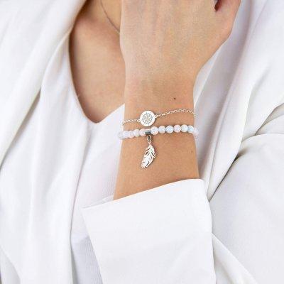 srebrna bransoletka z różą wiatrów